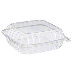 Dart® ClearSeal® Clear Hinged Lid Container -Med, 1 Cmpt