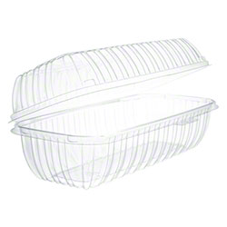 Dart® ClearSeal® Clear Hinged Lid Hoagie OPS Container