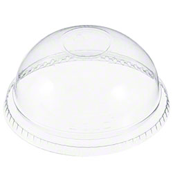 Dart Clear Dome No Hole Lid For Cups