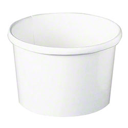 Solo® Flexstyle® White Paper Food Container - 8 oz.