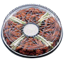 "Pactiv Caterware 18"" Deep Clear Plastic Crystal Cut™ Dome"