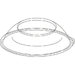 Pactiv Clear Plastic Dome Lid For 92220K
