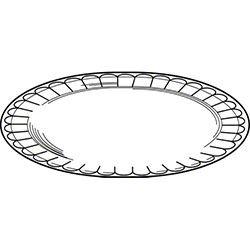 Pactiv Placesetter® Deluxe Oval Platter-8 1/2x11 1/2,White