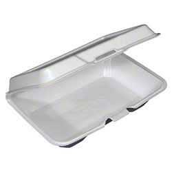 Pactiv Large Rectangular Shallow Container - White
