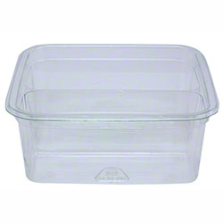 "Pactiv 4"" Recycled Plastic Square Deli Container Base - 8 oz."