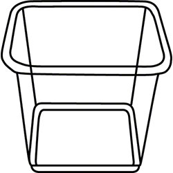 "PWP 48 oz. 6"" Sq. Clear ""Shelf Saver®"" Container"