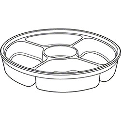 PWP 64 oz. Clear Dip Cup 4 Cell Platter