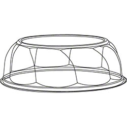 "PWP Swirl Dome For 9"" Cake/10"" Pie - 1"" Tall"