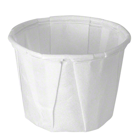 Solo® Treated Paper Soufflé  Portion Container - 0.5 oz.