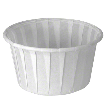 Solo® Treated Paper Soufflé  Portion Container - 4 oz.