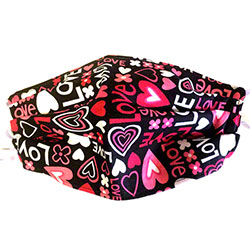 Handmade COVID-19 Cloth Mask - Pink Hearts