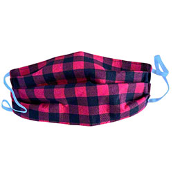 Handmade COVID-19 Cloth Mask - Red/Black Check