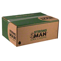 Strongman Can Liner - 43x47, 2.0 mil EQ, Black