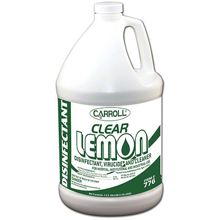 Carroll® Clear Lemon Disinfectant Cleaner - Gal.