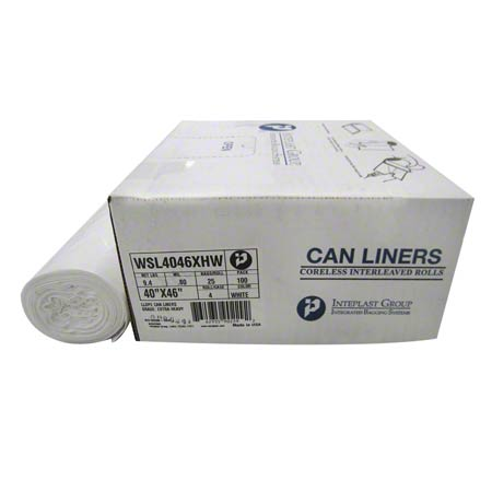 Inteplast Coreless Interleaved Roll Liner - 38 x 58, .8 mil