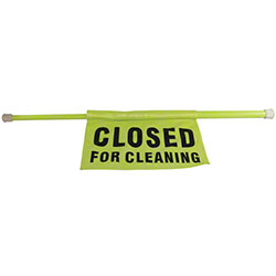 """Impact® """"Closed For Cleaning"""" Safety Pole"""