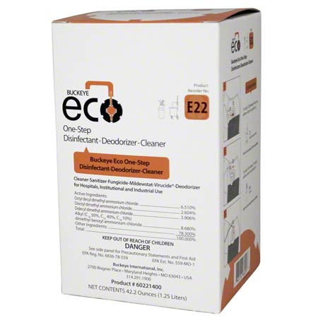 ECO E22 1-STEP-DISINFECTANT /DEODO CLNR1.25L 4/
