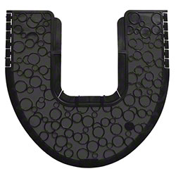 Fresh P-Shield Commode Mat - Black/Black