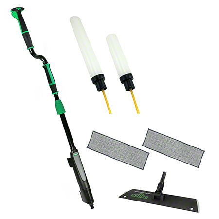 UNGER EXCELLA FLOOR CLEANING KIT W OFFSET POLE,18IN HOLDER,