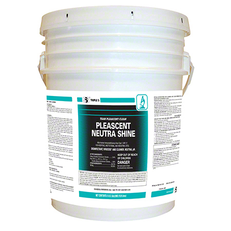 SSS® Pleascent Neutra-Shine Disinfectant Cleaner - 5 Gal.