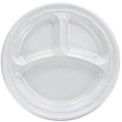 """Dart® Famous Service® Impact Plastic Plate-10 1/4"""" Cmpt."""