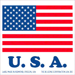 "DeLeone ""U.S.A. Flag"" Label"