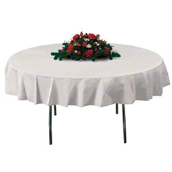 "Hoffmaster® Octy-Round® Tablecover - 82"", Ivory"