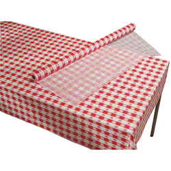 Hoffmaster® Plastic Roll Tablecover - Red Gingham