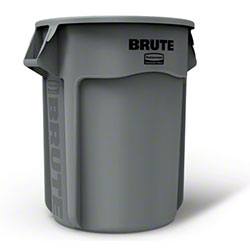 Rubbermaid® BRUTE® Vented Container - 55 Gal., Gray