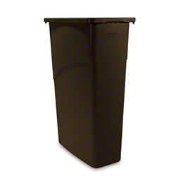 Rubbermaid® Slim Jim® Waste Container - 23 Gal., Brown