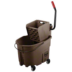 Rubbermaid® WaveBrake® Side Press Combo - 35 Qt., Brown