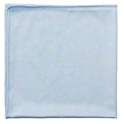 "Rubbermaid® HYGEN™ Glass Cloth - 16"" x 16"", Blue"