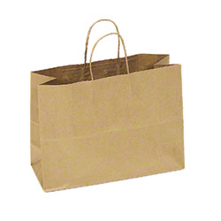 "TULSACK Brown Shopping Bag - 16"" x 6"" x 12"""
