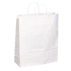 "TULSACK White Shopping Bag - 16"" x 6"" x 19"""