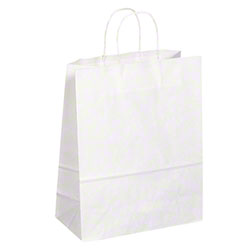 "TULSACK White Shopping Bag - 13"" x 6"" x 16"""