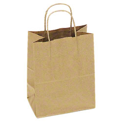 "TULSACK Brown Shopping Bag - 8"" x 5"" x 10"""