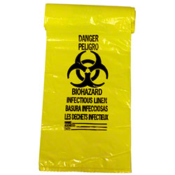 NAPCO Yellow Infectious Linen Bag - 33x39, 1.30 gauge