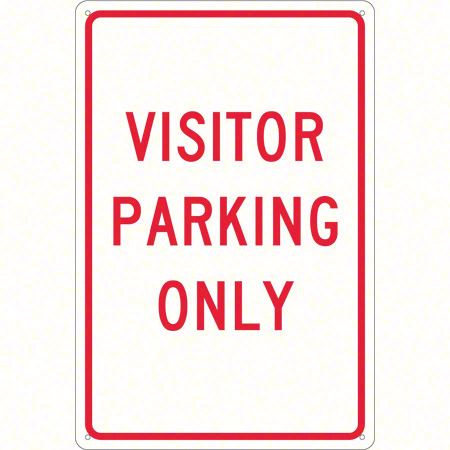 "Visitor Parking Only Sign - 18"" x 12"""