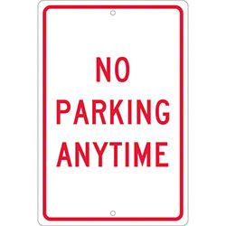 "No Parking Anytime Sign - 18"" x 12"""