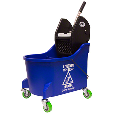 CPI Mop Bucket/Wringer Downpress - 9.5 Gal., Blue