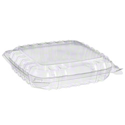 Dart® ClearSeal® Hinged Lid Container-Med,1 Cmpt,Shallow