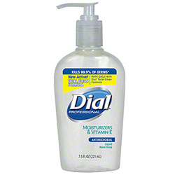 Dial® Antimicrobial Hand Soap w/Moisturizers & Vitamin E - 7.5 oz. Pump