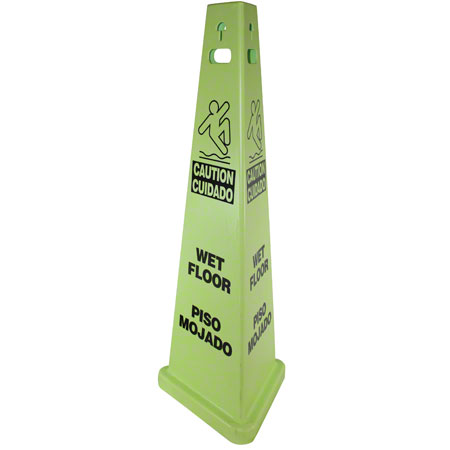 """Impact® TriVu™ """"Wet Floor"""" 3-Sided Safety Sign"""