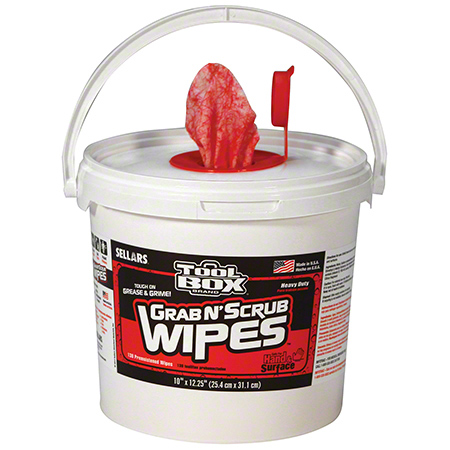 Sellars® Tool Box® Grab N' Scrub® Wipes - 130 ct.