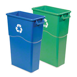 "delamo® Slim ""Mo"" Waste Can - 23 Gal., Blue Recycle"