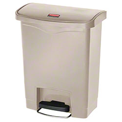 Rubbermaid® Slim Jim® Step-On Resin Front -8 Gal., Beige