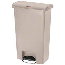 Rubbermaid® Slim Jim® Step-On Resin Front-13 Gal., Beige