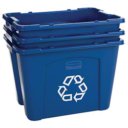 Rubbermaid® Recycling Box - 14 Gal., Blue