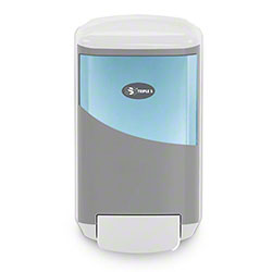 SSS® HygienePoint Push Style 1250 mL Soap Dispenser - Gray/White
