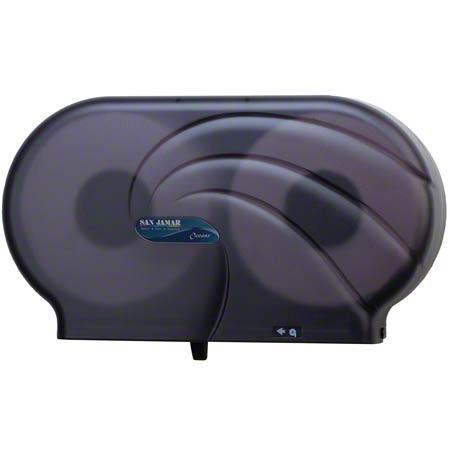 "San Jamar® Oceans® Twin 9"" JBT Dispenser - Black"